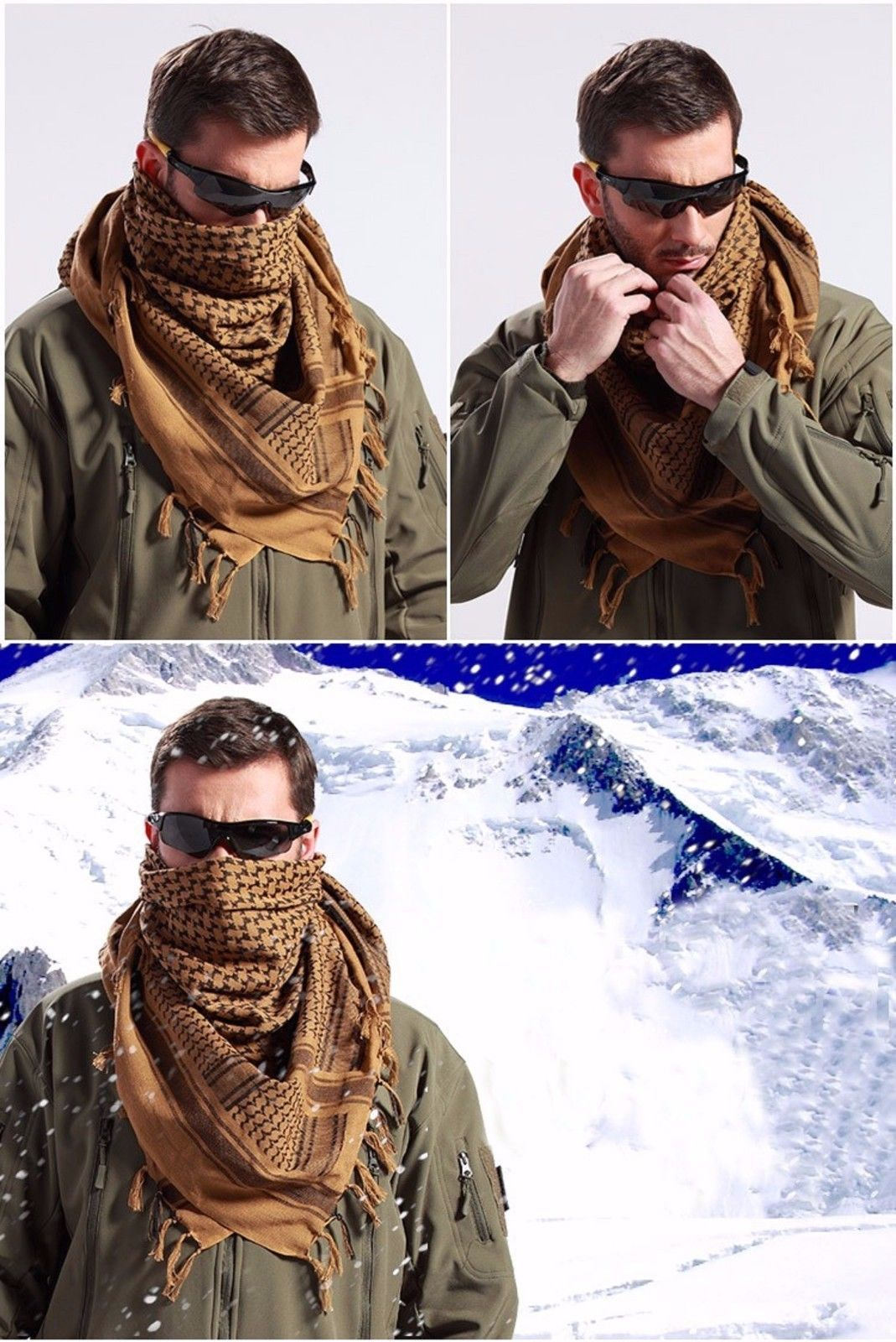 13.9 - Tactical Desert Arabic Scarf Men Military Windproof Scarfs  Palestine Shawl Wrap  ebay  Fashion e03b9bd3ada