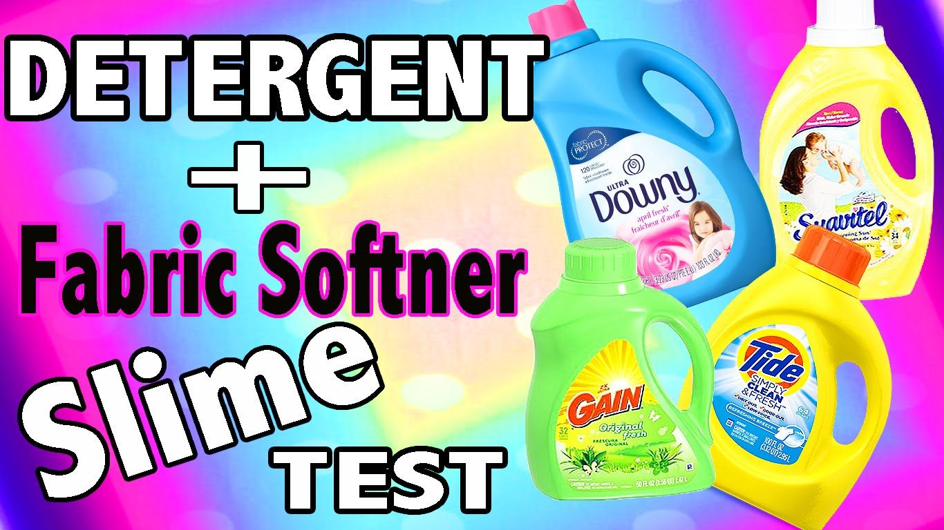 Laundry Detergent Slime Test With Tide Gain Fabric Softner