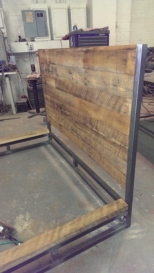 Custom bed order from Baltimore. #reclaimedwood #platformbed #custombuilt  #metalfreddesigns - Custom Bed Order From Baltimore. #reclaimedwood #platformbed