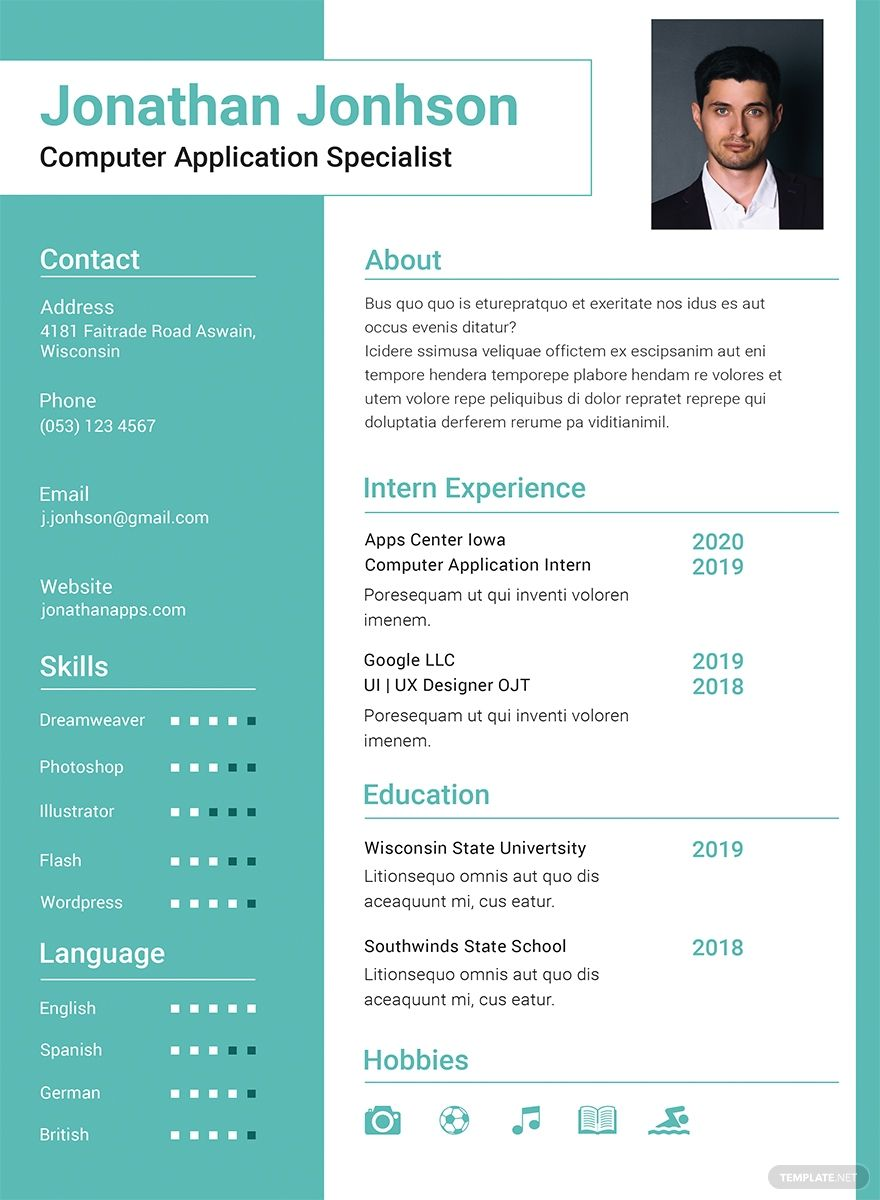 Free BCA Fresher Resume Template AD, , AFFILIATE, BCA