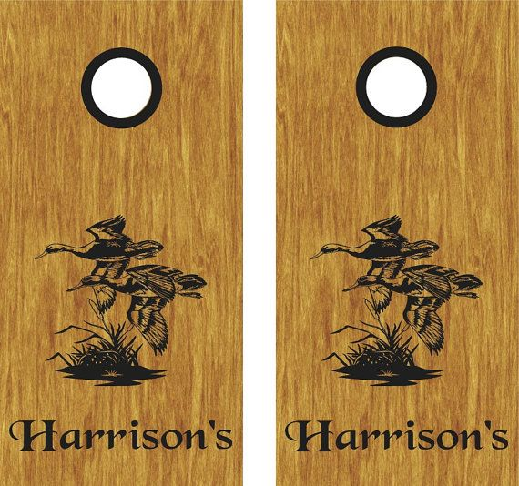 Duck hunting cornhole boards stickers decals bean bag toss wraps personalized