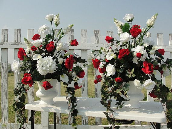 Wedding Church Altar Reception Silk Flower By Purecountrycharm