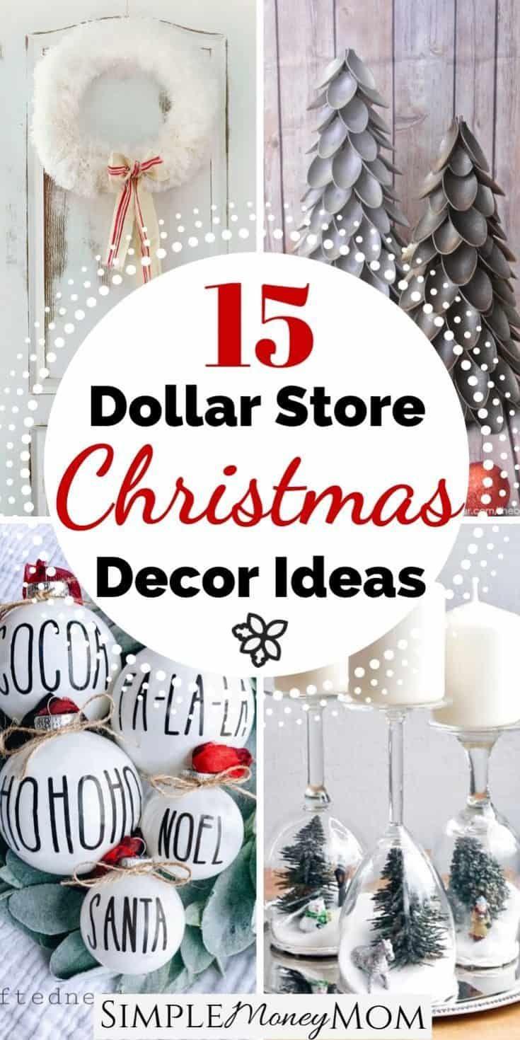 The Best Farmhouse Dollar Store Christmas Decor on the Web   Simple Money Mom -   19 diy christmas decorations dollar store easy ideas