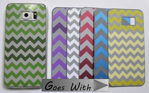 CELLPHONE FASHION - Inserts for Samsung Galaxy S6 - Fit Under Your Clear Cellphone Cover/Case - 6 Different Designs - SET 13