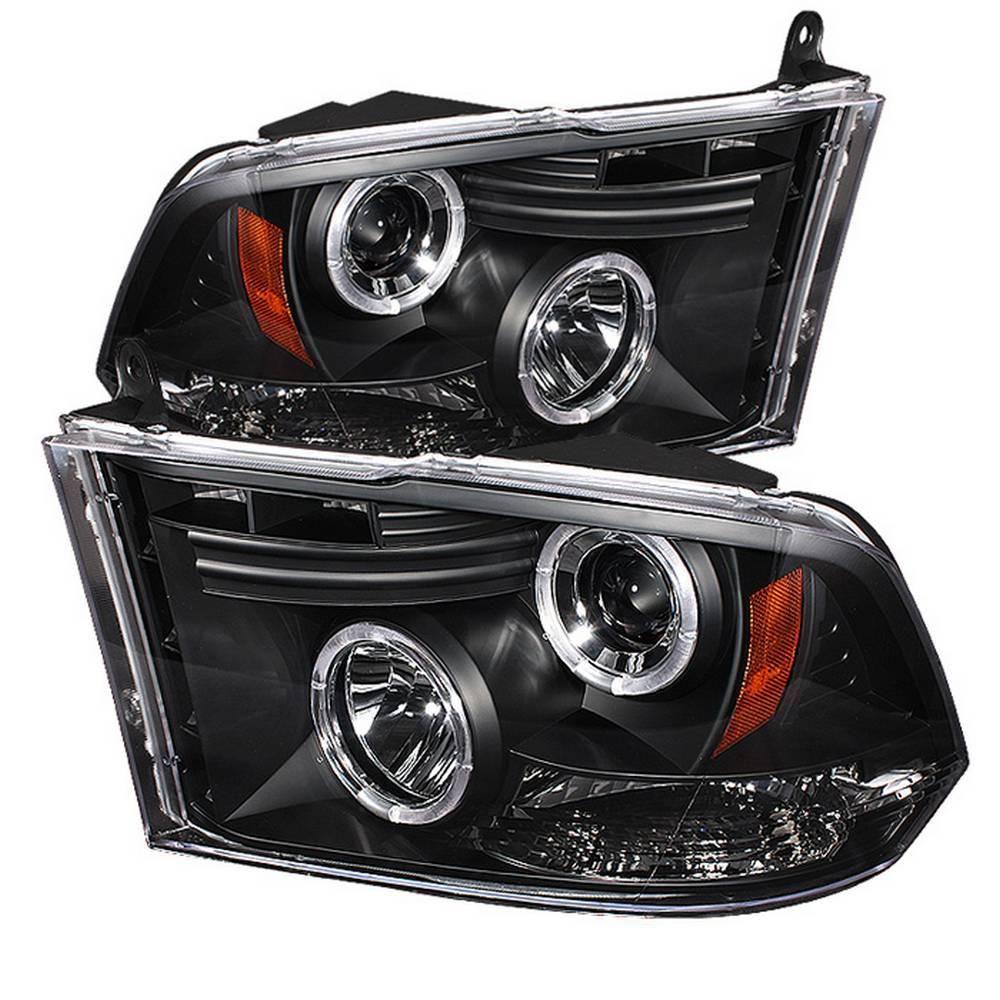 Dodge Ram 1500 09 16 Ram 2500 3500 10 16 Projector Headlights Halogen Model Only Led Halo Black In 2019 Products Projector Headlights Dodge Ram 1500
