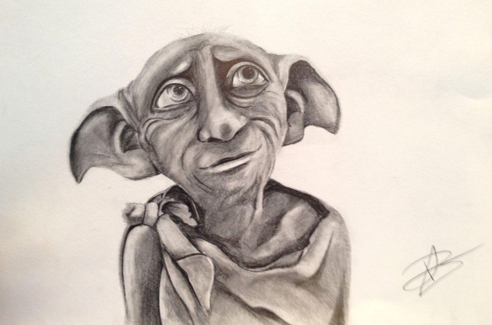 Гарри поттер и добби картинки карандашом