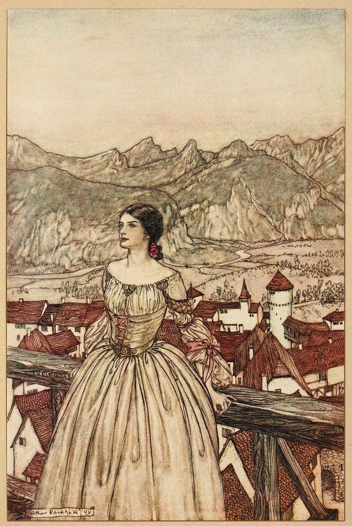 Arthur Rackham Undine 1909 Bertalda Arthur Rackham Fairytale Art Fairytale Illustration