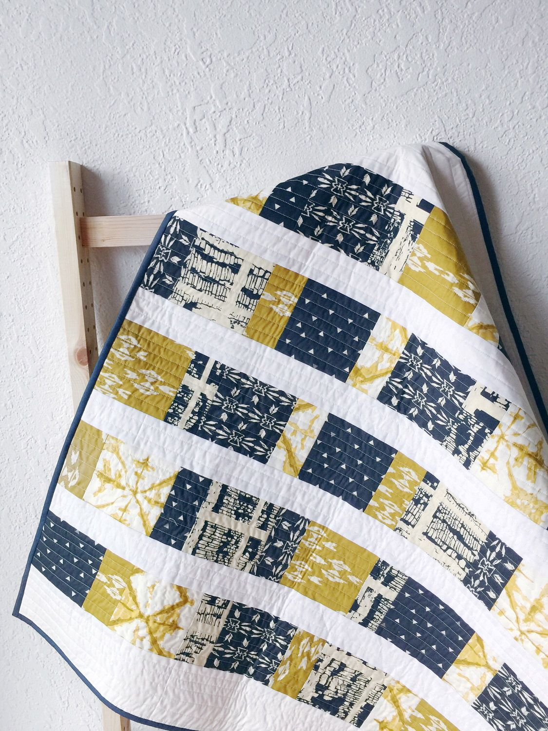 Baby Quilt Handmade, Modern Quilt, Toddler Quilt, Nursery Bedding ... : etsy baby quilts for sale - Adamdwight.com