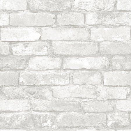 Brewster Grey and White Brick Peel and Stick Wallpaper, Multicolor ...