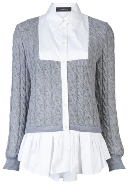 45ac9ee1c998 THAKOON Combo Shirt - Lyst Clothes Horse, Autumn Fashion, Fall Fashion