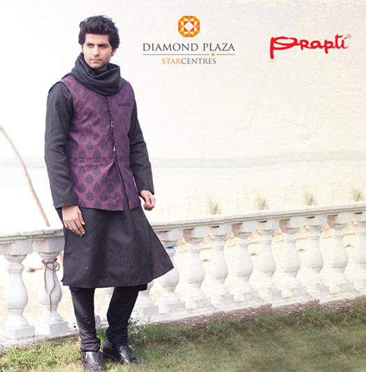 Look different and look special on that special day with Sherwani from #Prapti!!  Come and try the new collections at Diamond Plaza