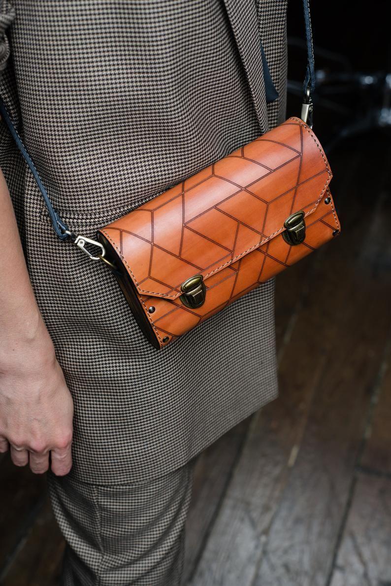 Photo of Cuir sac brun sac à main femme bandoulière sac bois mini sac à main en cuir italien rouge sac bandoulière bois embrayage petit Messager