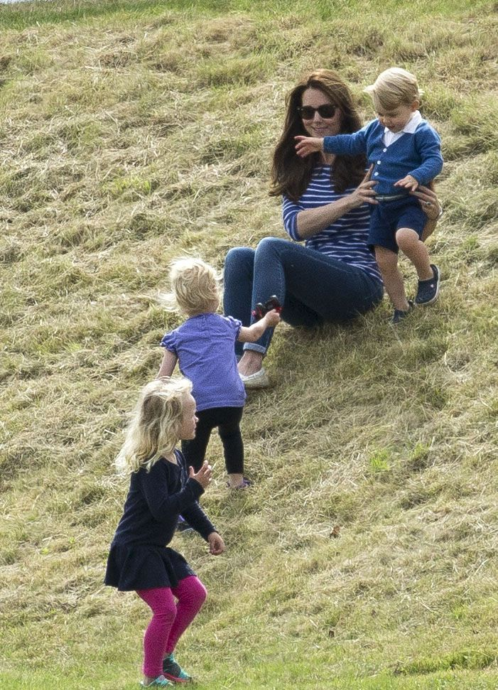 Prince George and Kate Middleton at Charity Polo Match - Prince George and Kate Middleton Photos