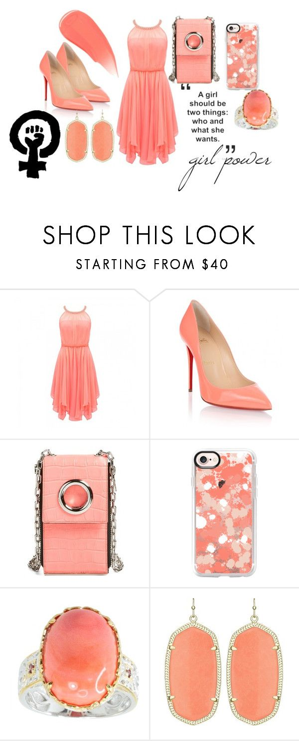 """""""Girl Power"""" by livinglifeincolorannie ❤ liked on Polyvore featuring Forever New, Christian Louboutin, Alexander Wang, Casetify, Michael Valitutti and Burberry"""