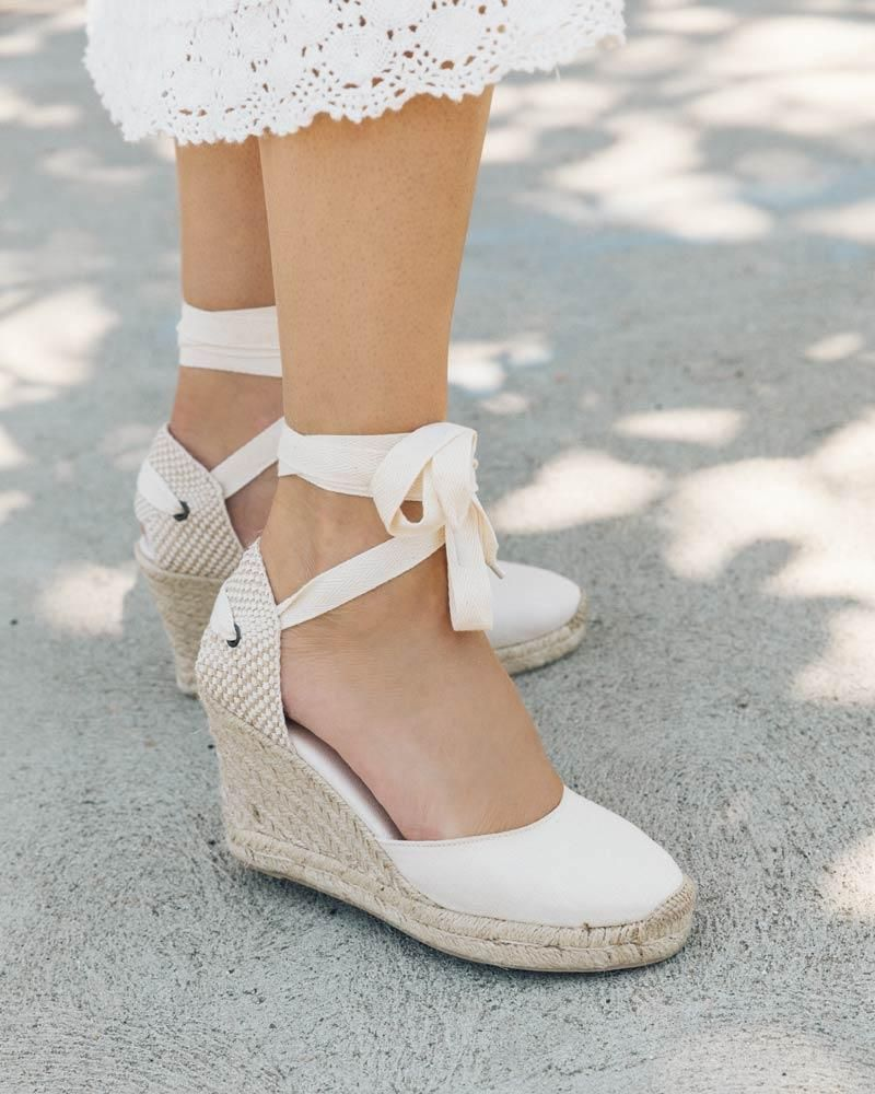 Classic 35 in 2020 wedge shoes espadrilles white