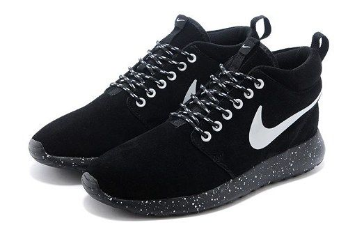 pretty nice 4b75f 5753a 2015 nikes roshe run 511881-110 suede high top black men running shoes