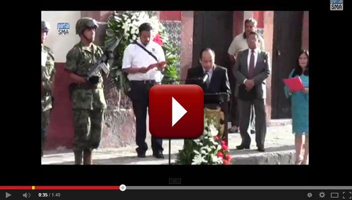 VIDEO. Acto Cívico 402 Aniversario de la Independencia Nacional en San Miguel de Allende http://www.portalsma.mx/sma/index.php/noticias/2160-video-acto-civico-402-aniversario-de-la-independencia-nacional #SanMigueldeAllende #SMA