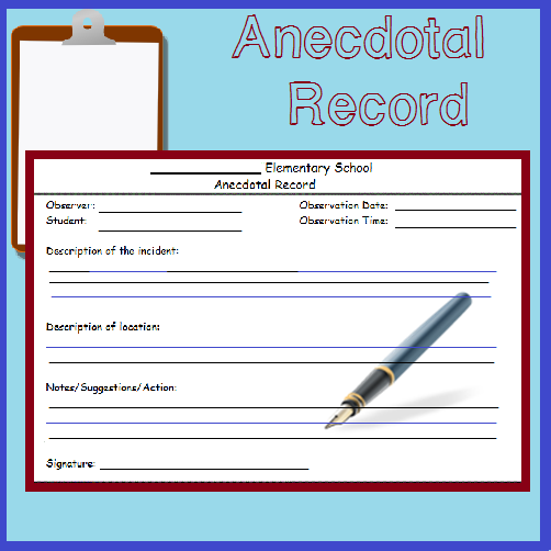 Fast Easy Anecdotal Record Form Anecdotal Records Student Behavior Classroom Tools