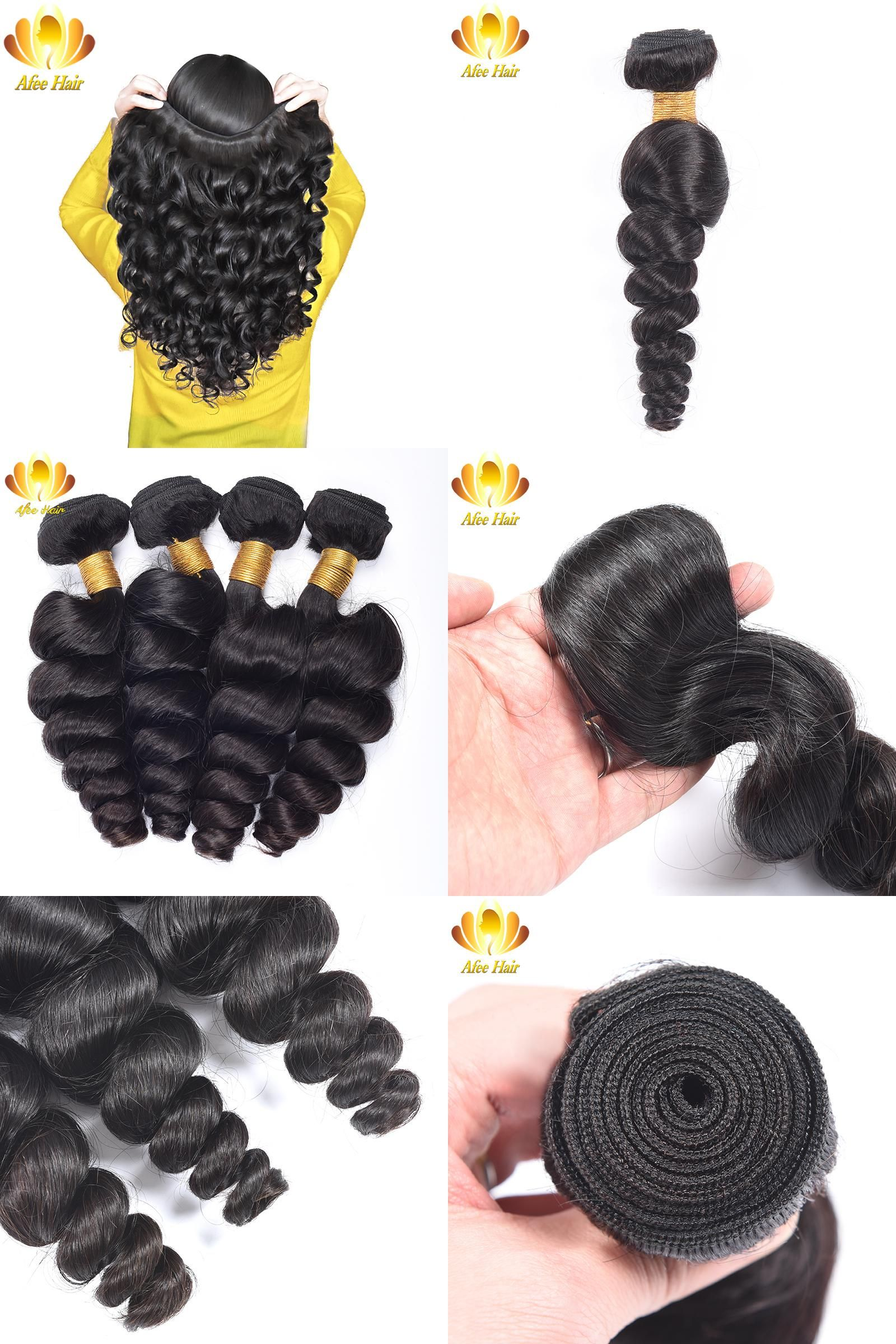 Visit To Buy Aliafee Brazilian Loose Wave 100 Human Hair Extension