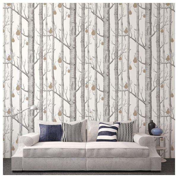 papier peint woods and pears | sympa, chalet et chambres