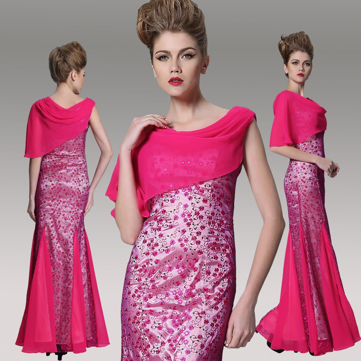 Rose red long mermaid prom dress dorisqueen red color evening prom