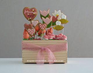 caja de galletas primaveral