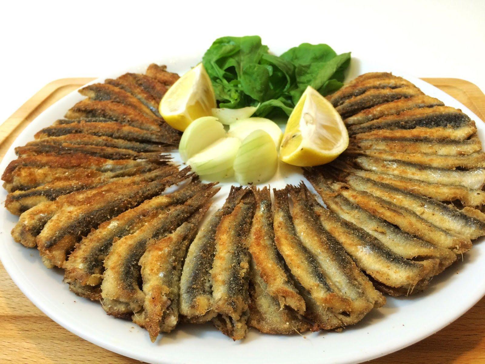 Frittierte Sardellen - Hamsi Tava | Meeresgetier | Pinterest ...