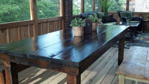 Custom Built Farmhouse Tabletwo Guys In Nwa  For The Home Extraordinary Custom Built Dining Room Tables Design Decoration