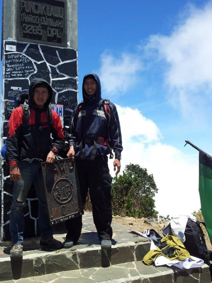 at the peak of lawu mountain