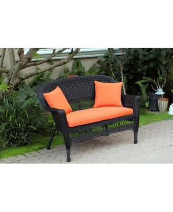 Jeco Wicker Patio Love Seat With