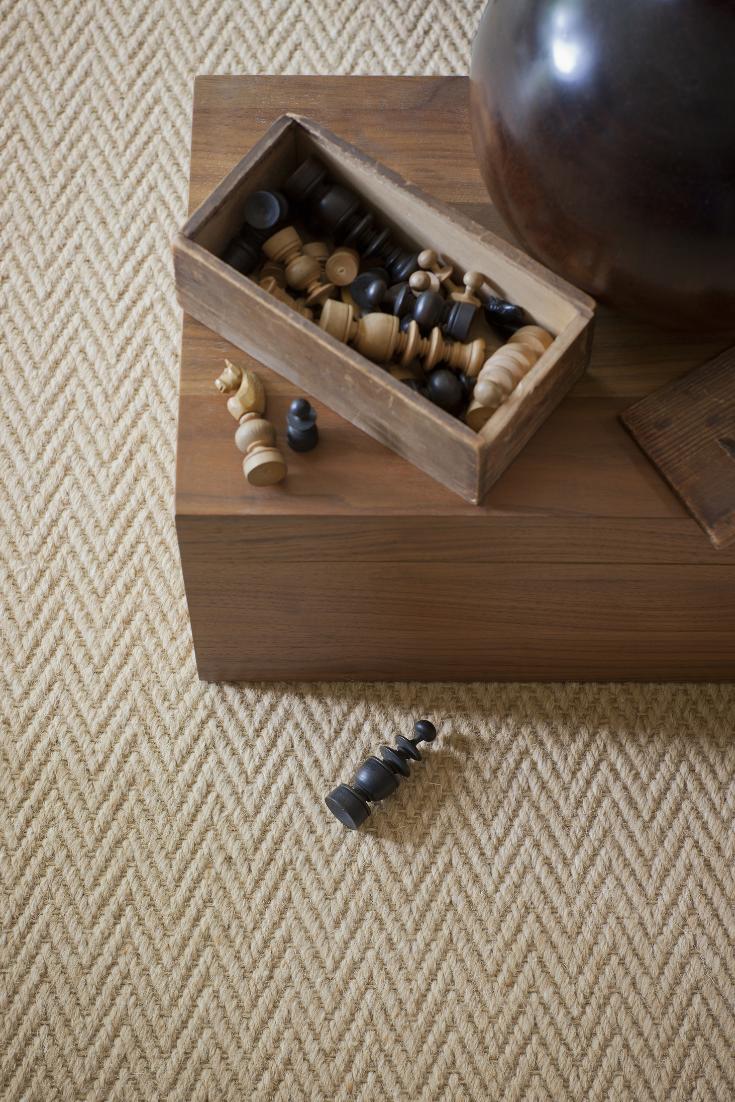 Best Wool Herringbone Zig Zag Natural Carpet Living Room 400 x 300
