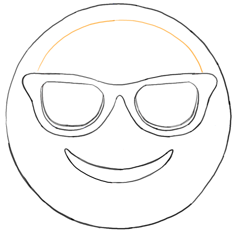 Sunglass Emoji Faces Coloring Pages Sketch Coloring Page | Party Ideas | Pinterest | Feutrine Et ...