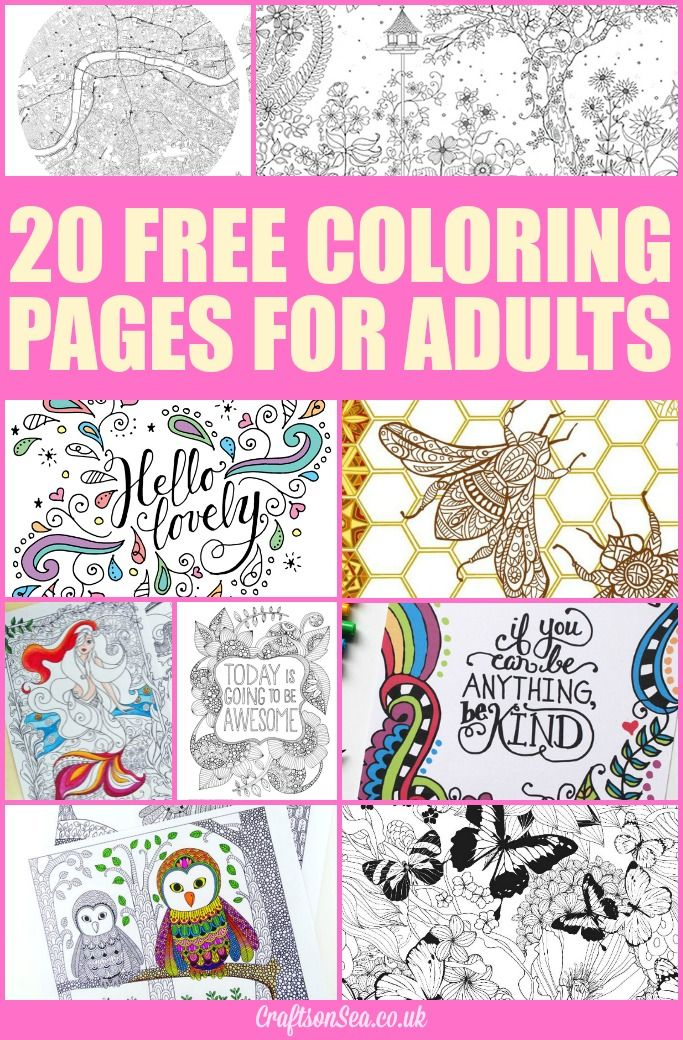 20 Free Coloring Pages for Adults   Printables   Coloring ...