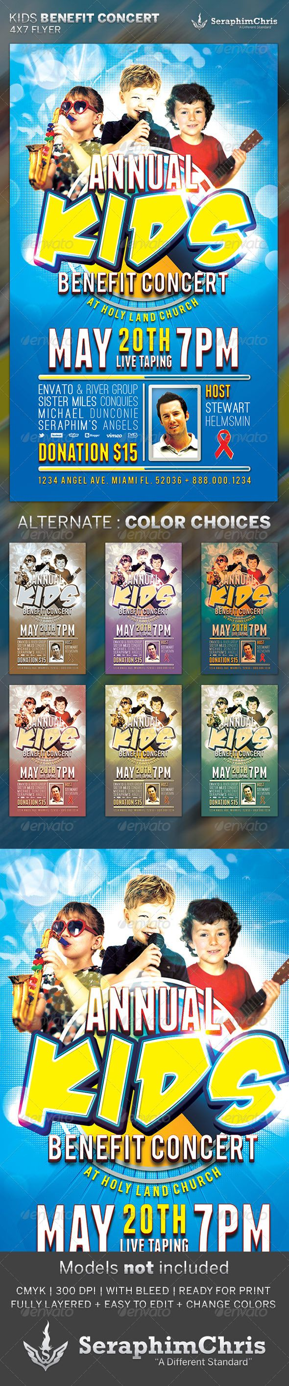 Kids Benefit Concert: Flyer Template   Pinterest   Concert flyer ...