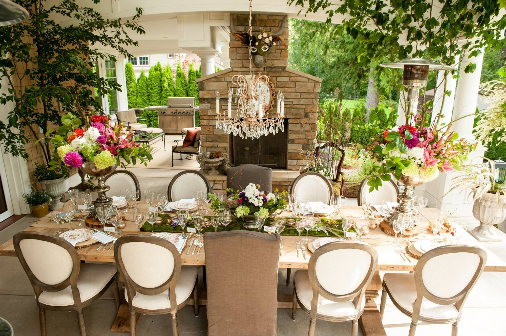 Over The Top Studios Midsummer Nights Dream Outdoor Dinner Party