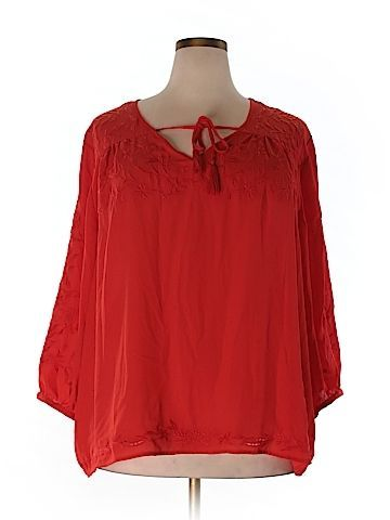 801ca5c4427 Plus Clothing - Up to off at thredUP. Cynthia Rowley for T.J. Maxx Women  Long Sleeve Blouse Size 3X (Plus)