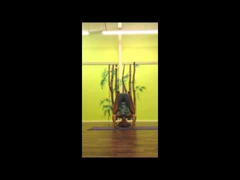 how to do a yoga tripod headstand with lisa ware of yoga 4