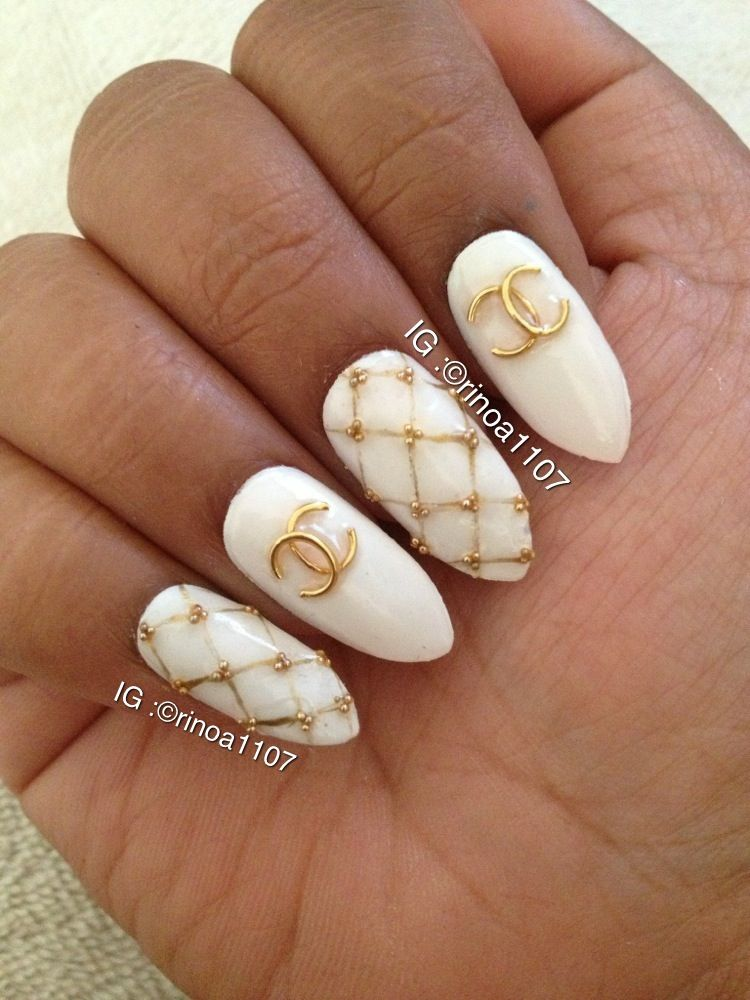 Chanel Nails Nailart Pinterest Chanel Nails Trendy Nail Art