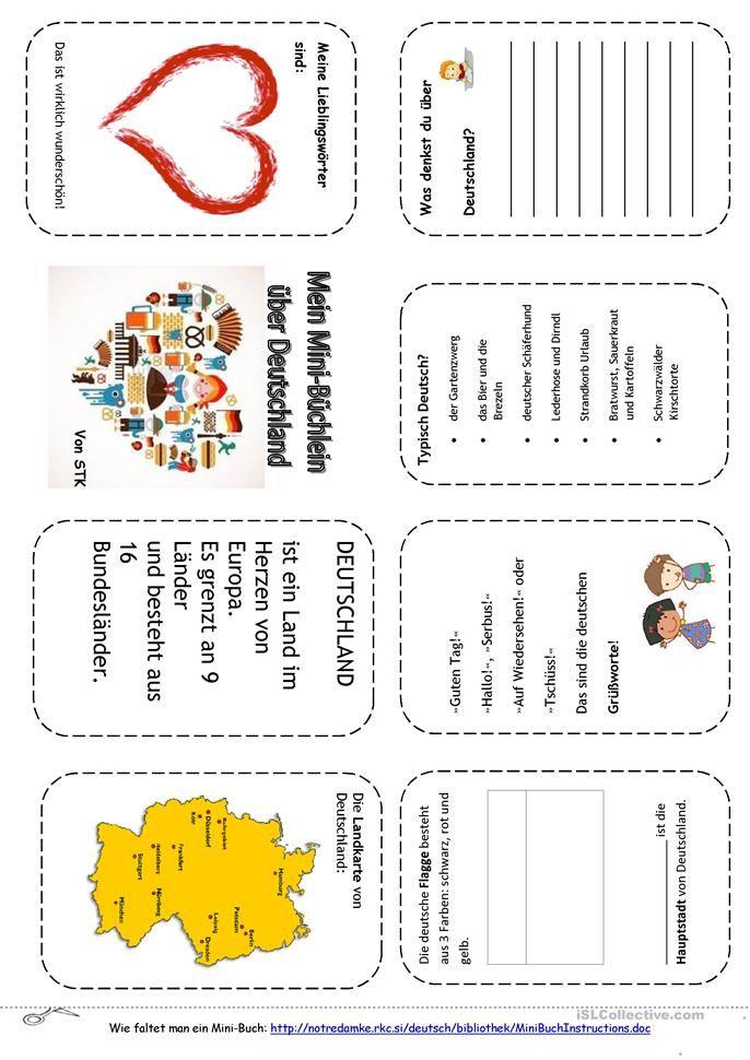 Deutschland Minibuch | Schule | Pinterest | Minibücher, Deutschland ...