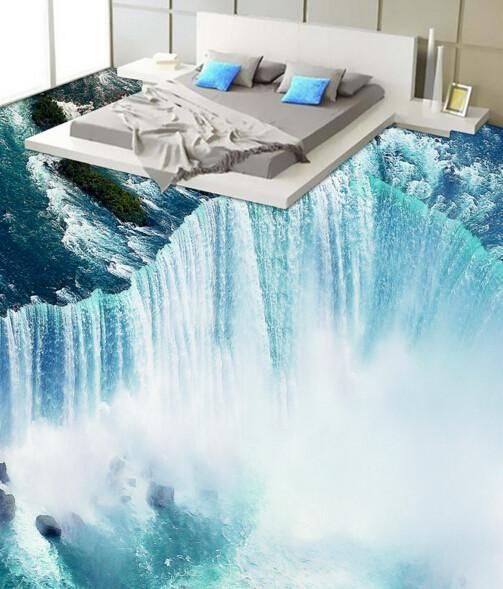 3D Marine Vortex Floor Mural | AJ Wallpaper