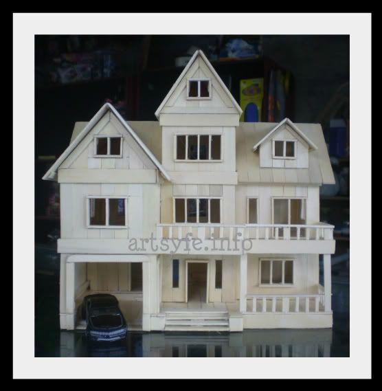 House Made From Lollipop Sticks