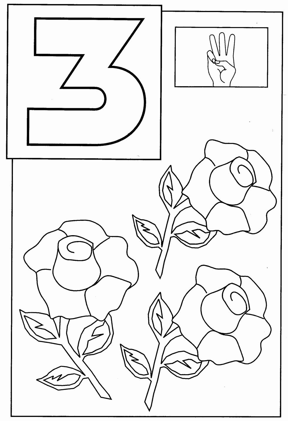 Number 3 Coloring Sheet In 2020 Toddler Coloring Book Disney