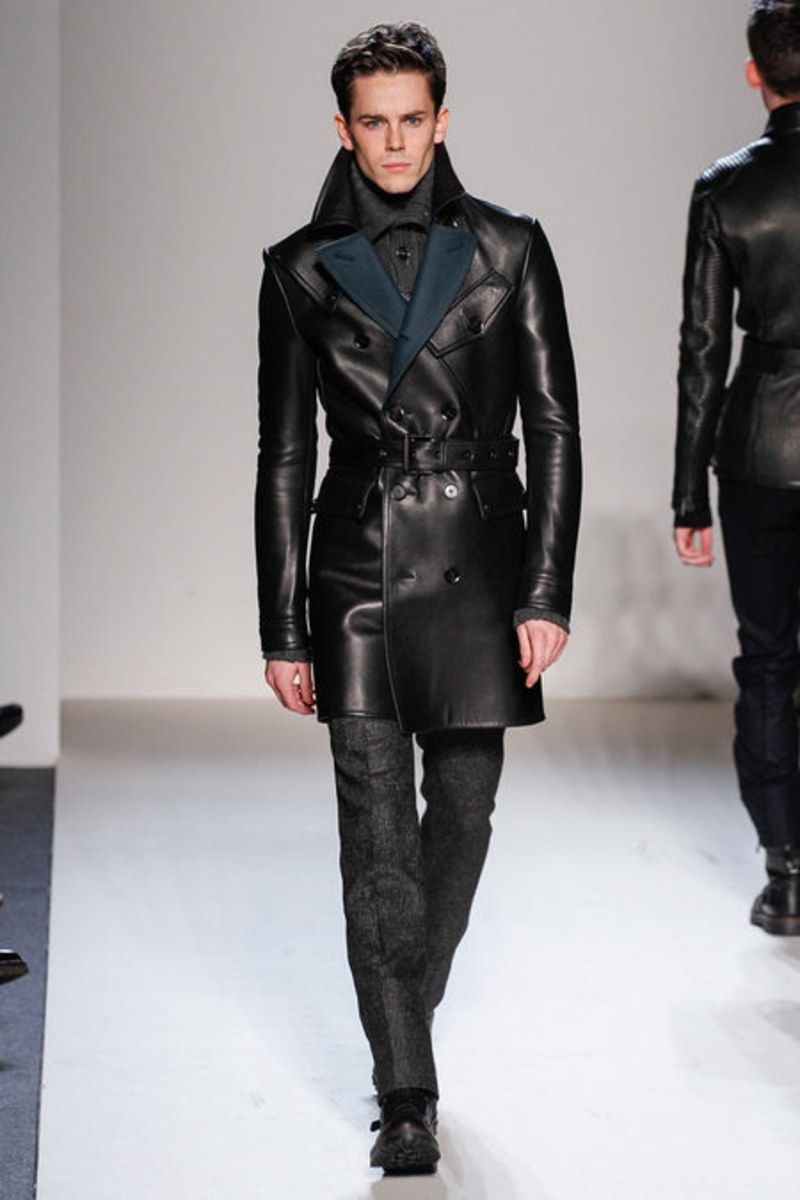 5ba3b3f758 Belstaff continues with their fall 2013 collection as the masters of  motorcycle chic. Black dominates the color palette with splashes of brown  and midnight ...