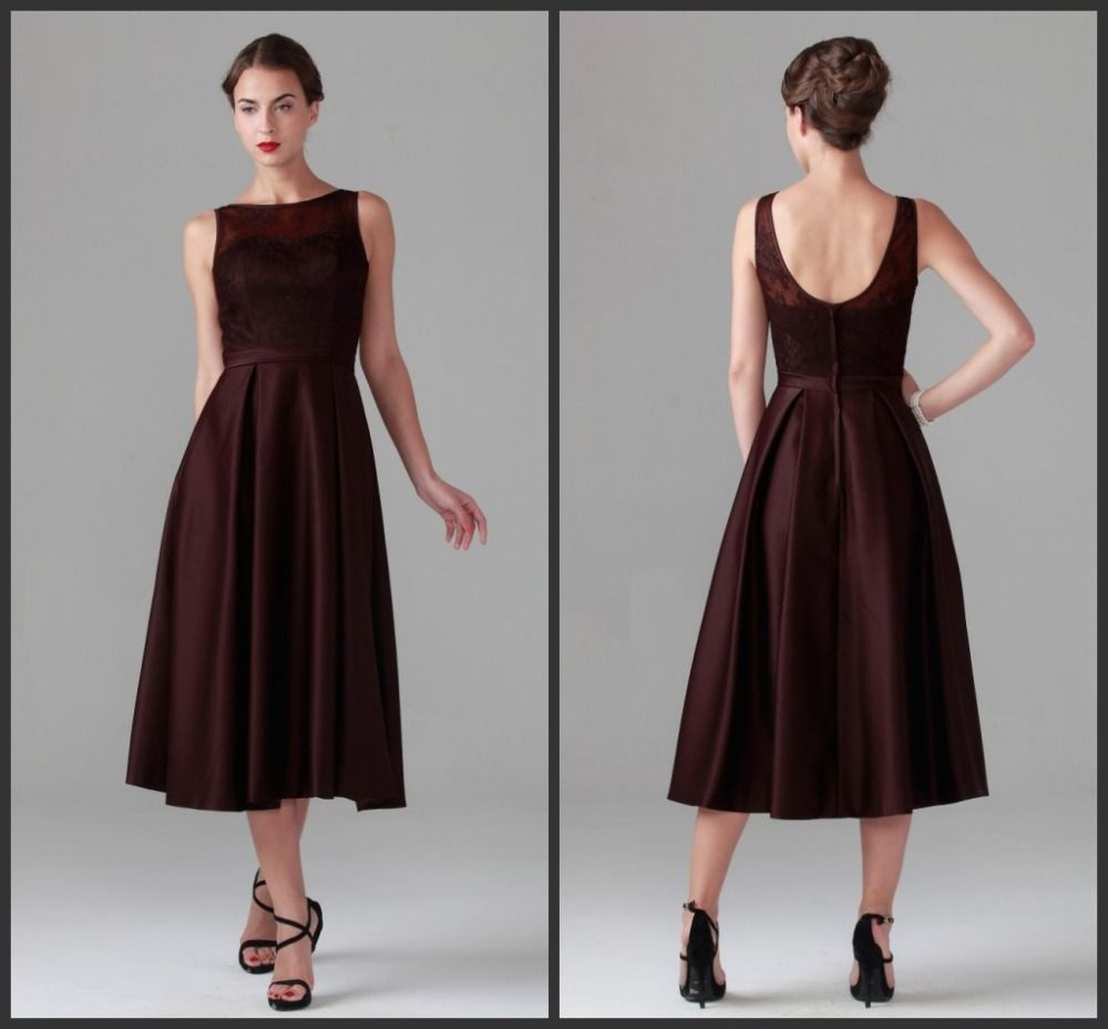 Mother of the bride dresses evening wedding  Tea Length Mother of the Bride Dresses for Wedding Maroon Mother