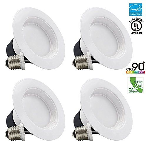 4-Pack 12Watt 4-inch High CRI Wet Location Dimmable Retrofit LED Recessed Lighting Fixture, Energy Star UL-classified 65W Equivalent Ceiling Light, 2700K Soft White 650lm Remodel Recessed Downlight TORCHSTAR http://www.amazon.com/dp/B00Y4LWOPA/ref=cm_sw_r_pi_dp_T2pUwb0ND2BBR