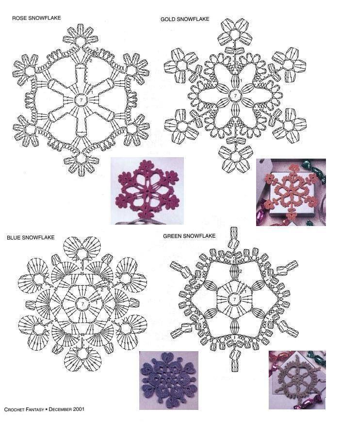 Sneeuwvlokje | Crochet - Snowflakes & Bells | Pinterest | Puntadas ...