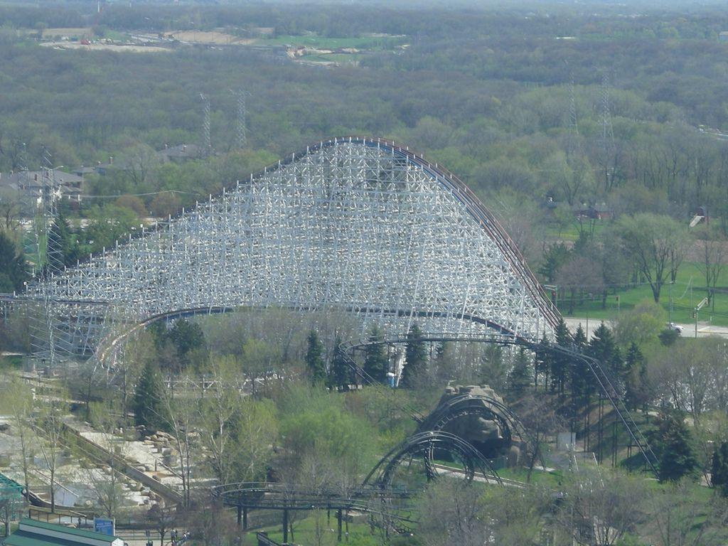 American Eagle Aerial | Flickr - Photo Sharing!/ #freizeitpark #themepark #rollercoaster #Achterbahn #Achterbahnpark