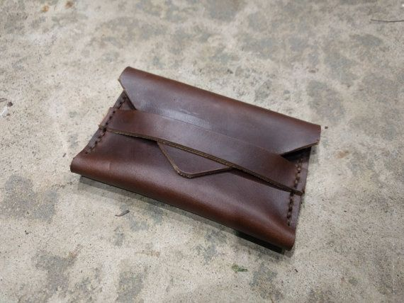 Horween chromexcel leather business card wallet envelope sizes items similar to horween chromexcel leather business card wallet on etsy reheart