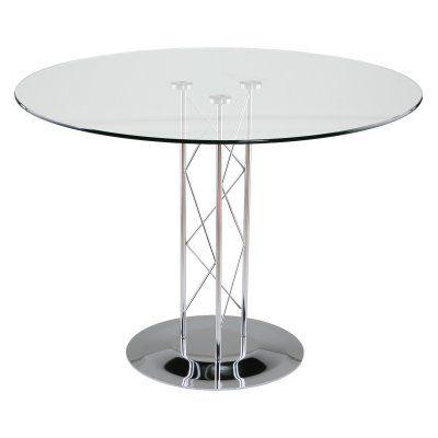 Euro Style Trave Round Glass Dining Table EUS848