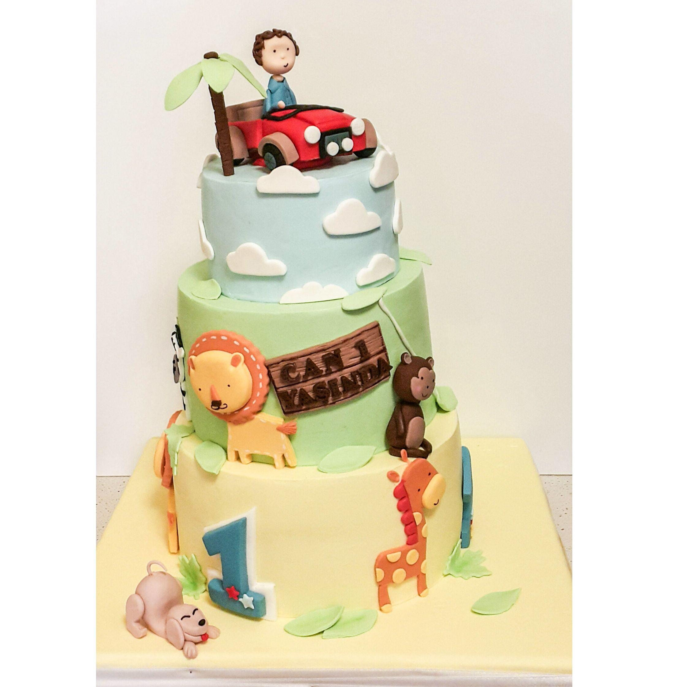 Kekperest, animal cake, hayvan figürlü, safari pasta, çocuk pastası ...